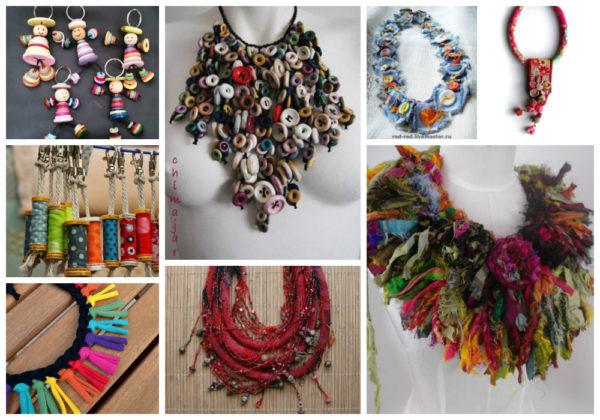 Ekologiczna biżuteria - recykling tkanin