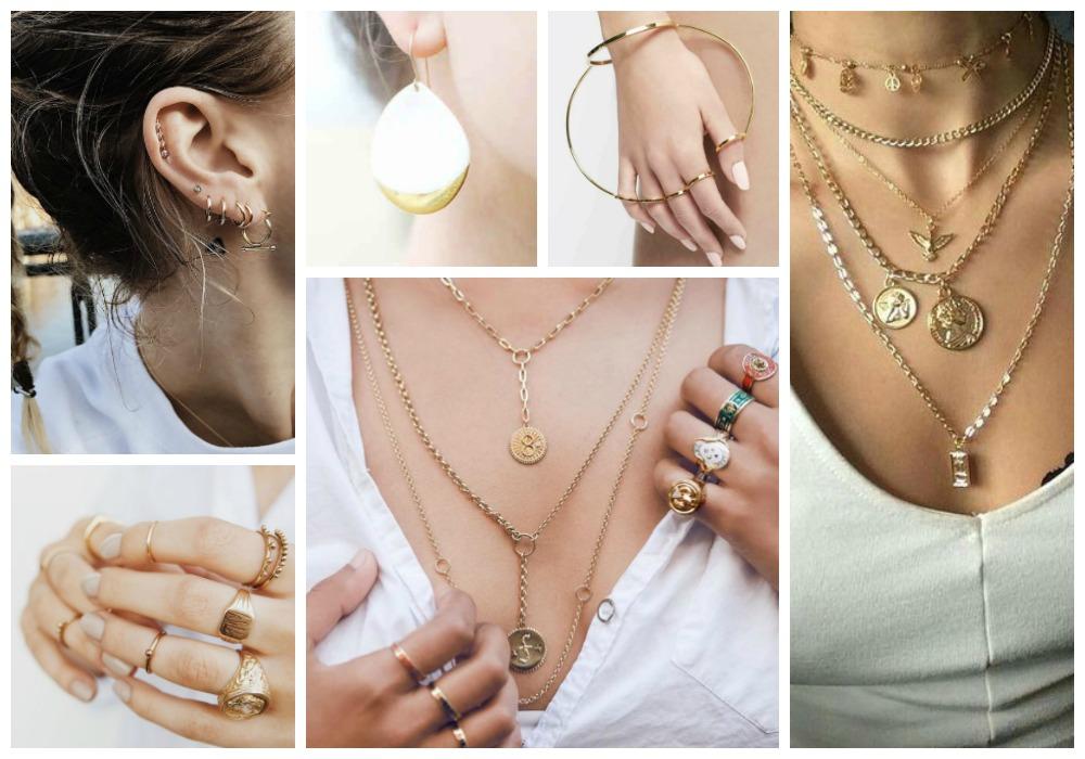 Złote zawieszki i sygnety, czyli jak pokochałam złotą biżuterię.