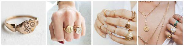 Złote sygnety