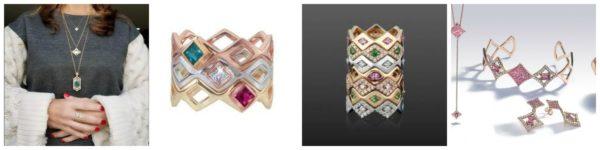 Biżuteria projektu Gigi Ferrani