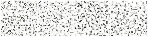 Koraliki akrylowe cyferki