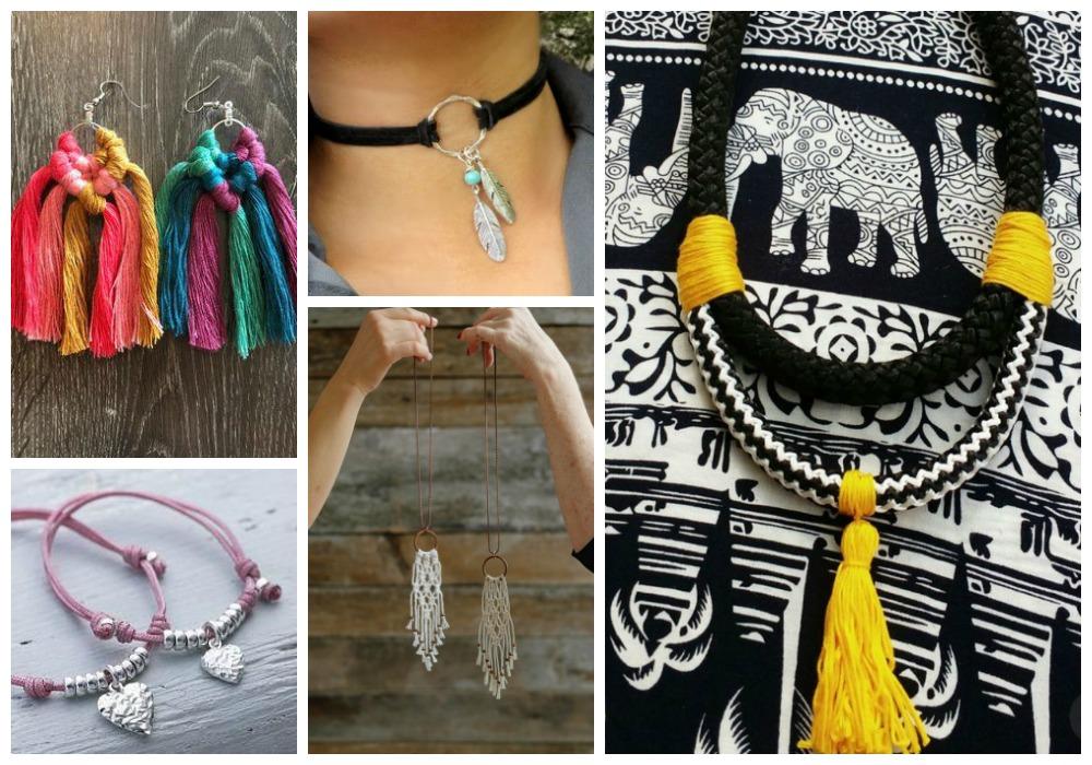 Biżuteria ze sznurków i rzemieni
