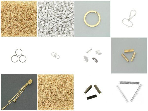 Metalowe półfabrykaty do biżuterii