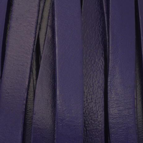 Niebieski rzemień skórzany płaski