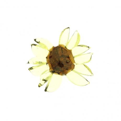 Ręcznie robiony koralik w kształcie kwiatka