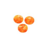 Kaboszony z żywicy z muszlą pomarańczowe