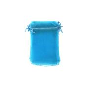 Niebieski woreczek z organzy
