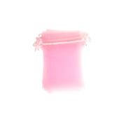 Różowy woreczek z organzy