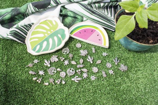 Roślinne zawieszki do biżuterii
