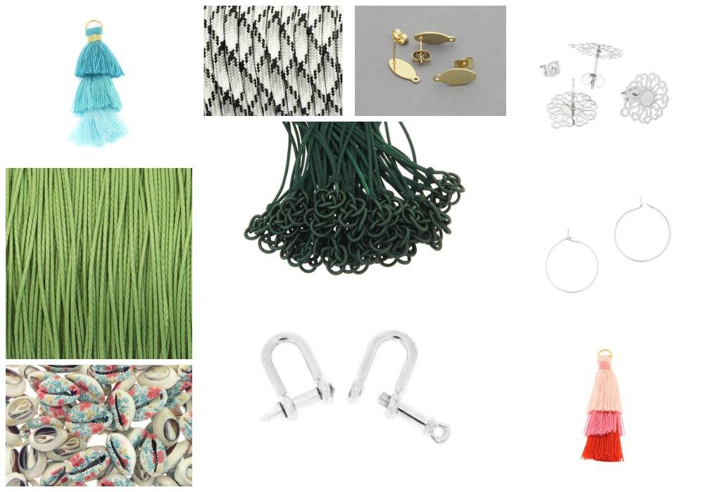 Półfabrykaty do wyrobu biżuterii z czerwca