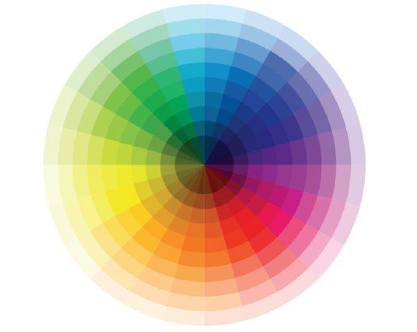 Schemat koła barw