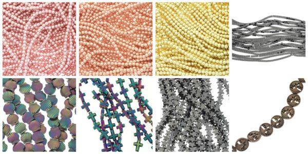 Hematyt, koraliki do biżuterii