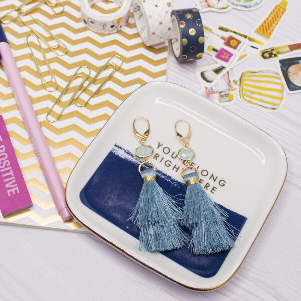 Kolczyki kryształki z chwostami eleganckie na prezent