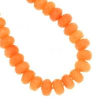 Jadeit pomarańczowy koraliki