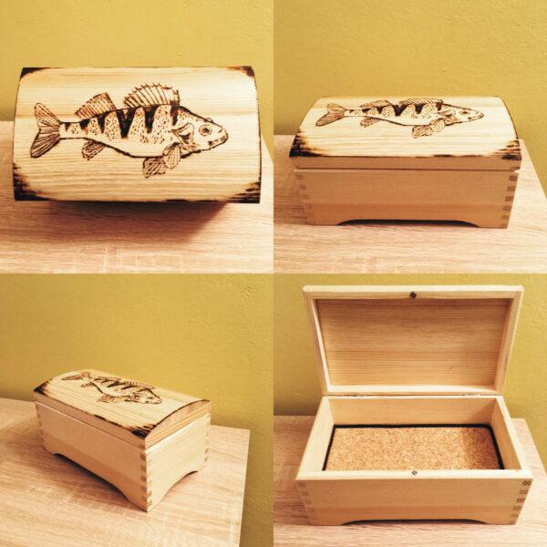 Pudełko wypalane we wzór ryby
