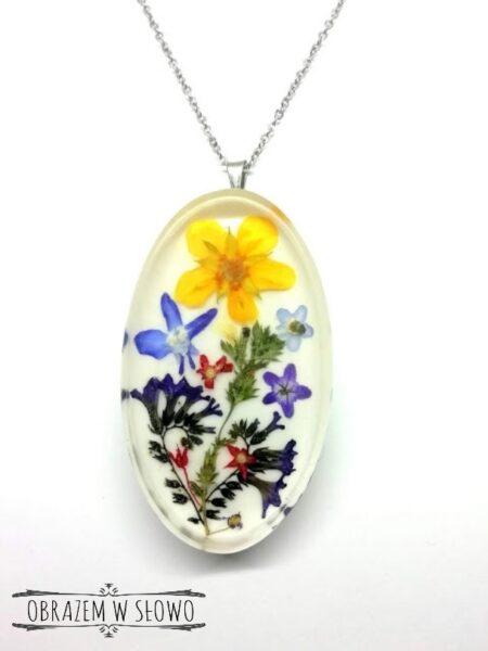 Naszyjnik z suszonymi kwiatami - Obrazem w Słowo