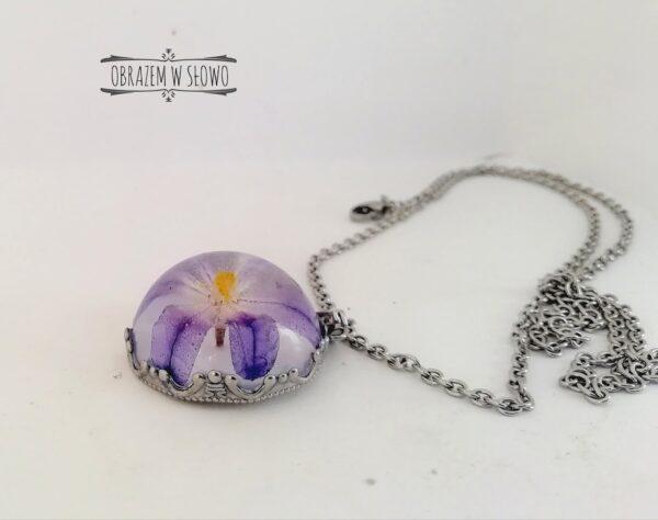 Naszyjnik z kwiatem handmade