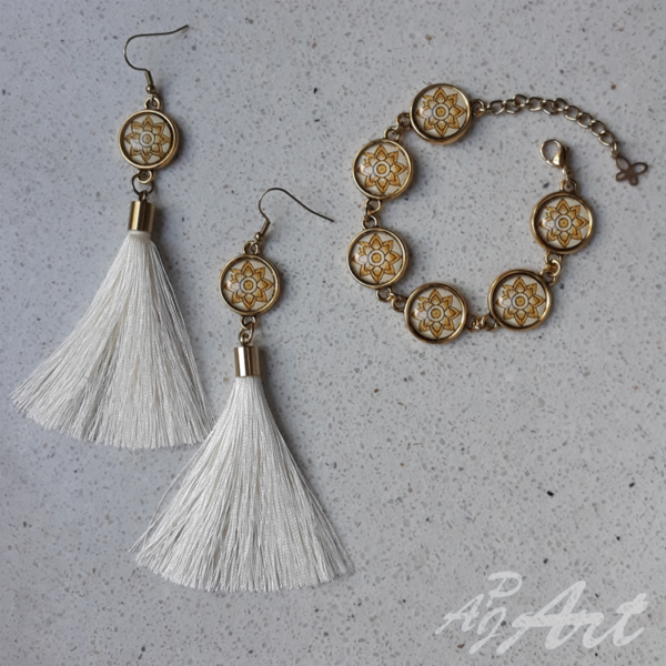 Komplet biżuterii ręcznie robionej APJ