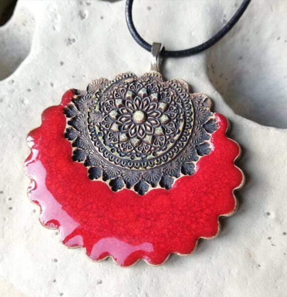 Mandala naszyjnik ceramiczny