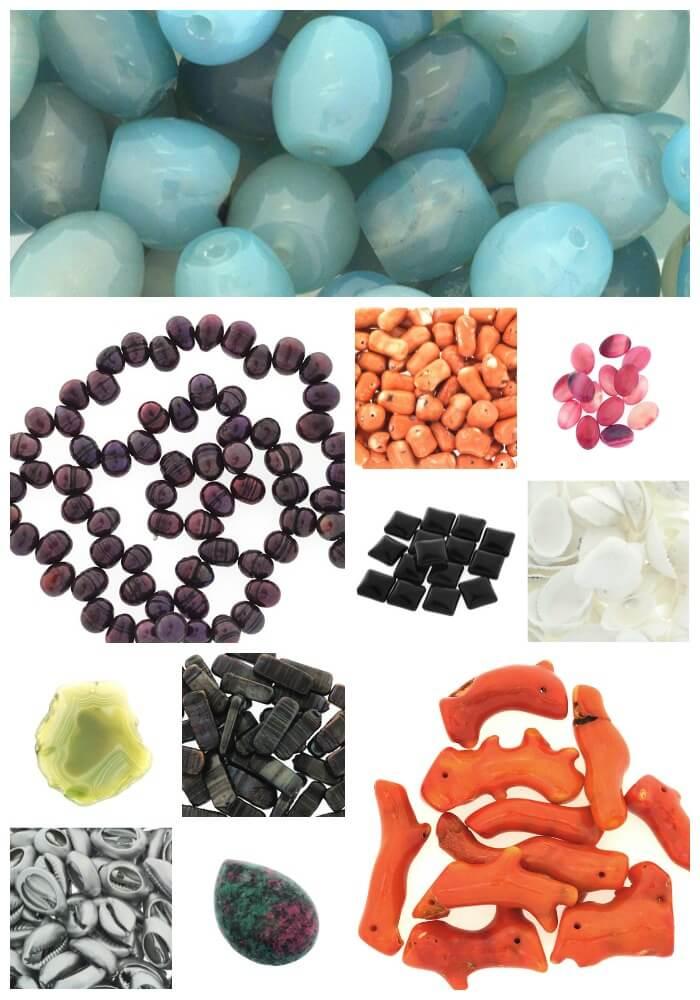 Naturalne koraliki i półfabrykaty – nowości manzuko