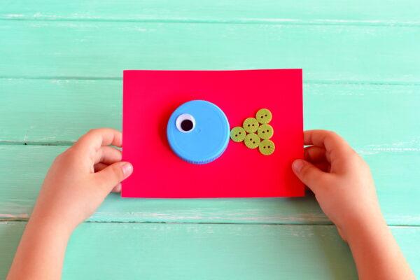 Kartki z recyklingu diy dla dzieci