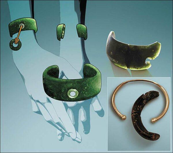 Syberyjska bransoleta z kamienia fragment i wizualizacja całości