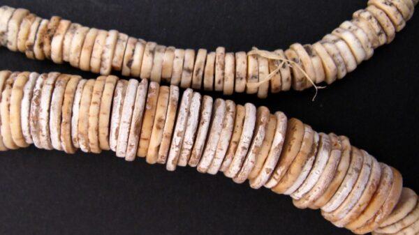 Naszyjnik z obrabianych skorupek jaj strusich najstarsza biżuteria świata poddana misternej obróbce