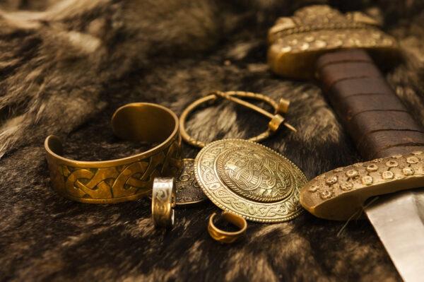 Złota biżuteria Wikingów