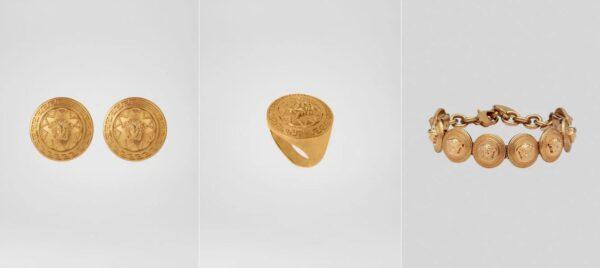 Konwencjonalna złota biżuteria Versace
