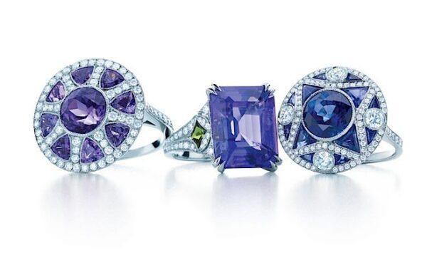 Diamentowe pierścionki- diamenty, tanzanity, szafiry, szmaragdy