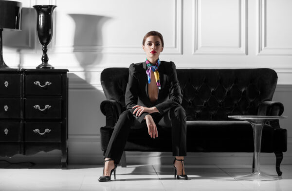 Nowoczesne wydanie stylu glamour