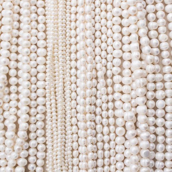 Perły hodowane, koraliki na sznurach