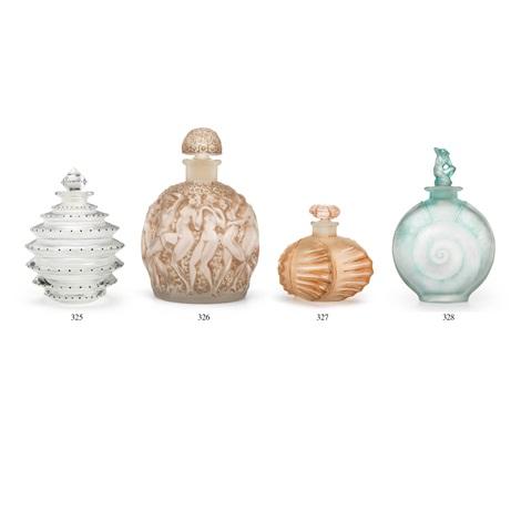 Flakony perfum projektowane przez R. Lalique