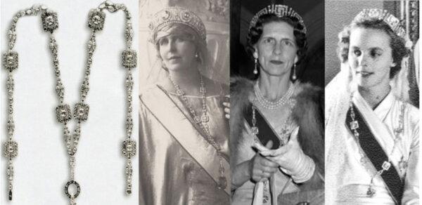 Rodzaje naszyjników - sautoir królowej Marii