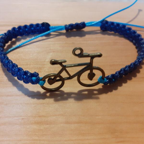 Bransoletka niebieska z rowerem