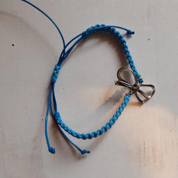Niebieska bransoletka z kokardą