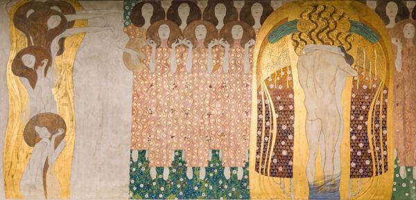 Malunki naścienne w stylu secesyjnym