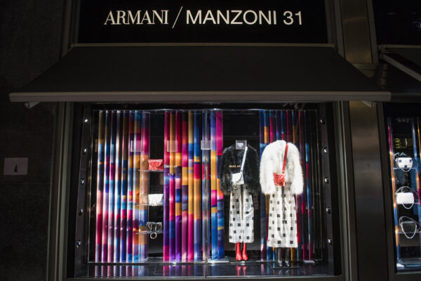 Witryna sklepu Armani