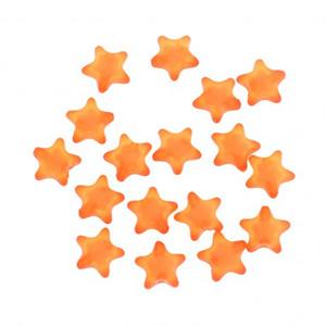 Pomarańczowe gwiazdki z akrylu, koraliki