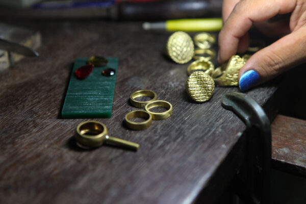 Odlewy pierścionków do wykończenia