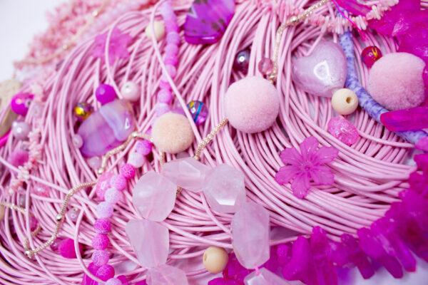 Różowe półfabrykaty do biżuterii