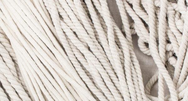 Plecione i skręcane sznury z naturalnej bawełny