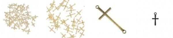 Symbole religijne - zawieszki i łączniki z krzyżem