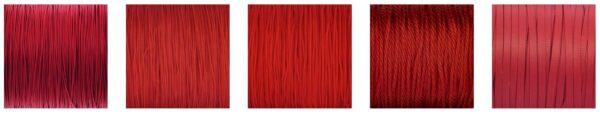 Czerwone sznurki jubilerskie