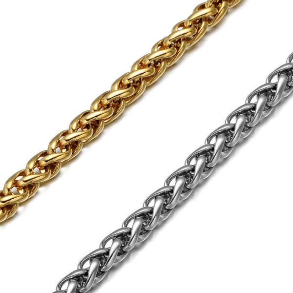 Łańcuszek o splocie kłosowym wheat chain
