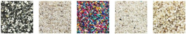 Sieczka z muszli koraliki naturalne i barwione