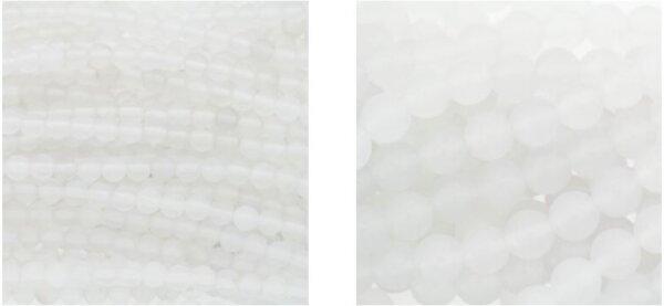Koraliki kulki z białego agatu