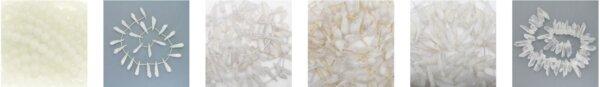Koraliki z białego kwarcu